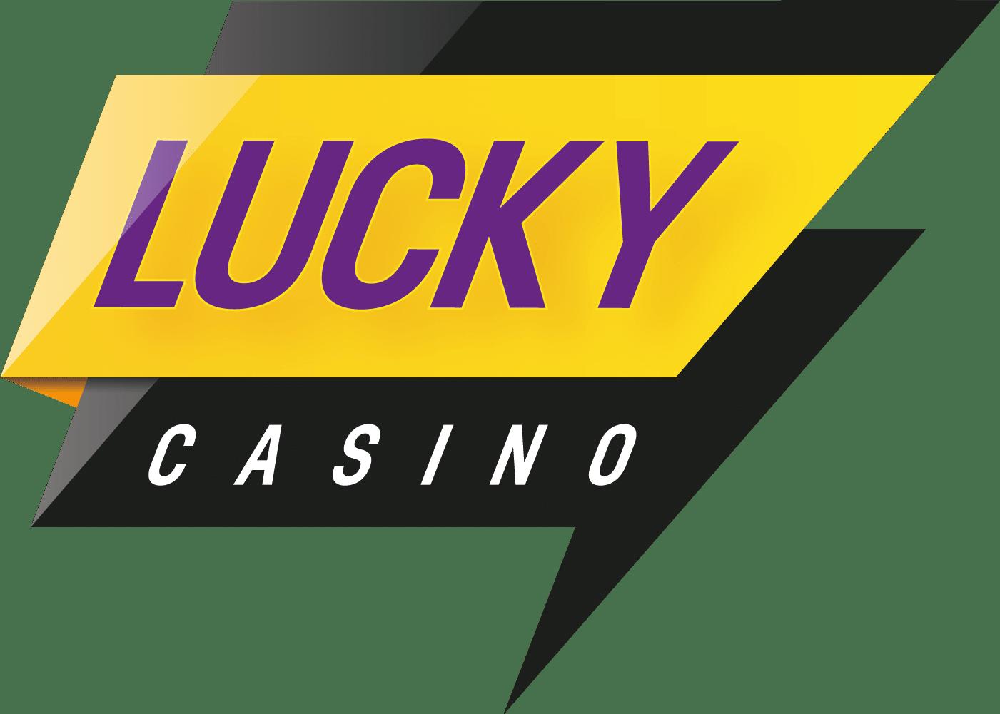 Logo LuckyCasino Keltainen Violetti